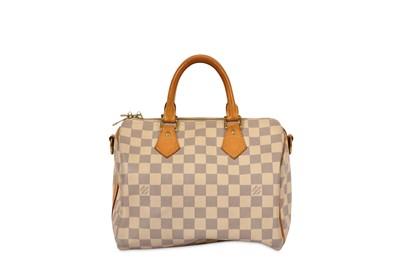 Lot 1-Louis Vuitton Damier Azur Bandoueliere 25