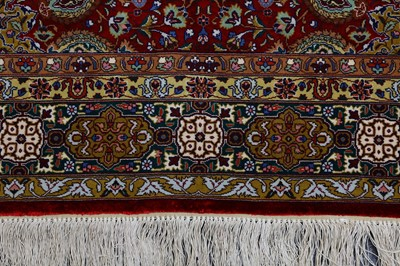 Lot 40-A PAIR OF VERY FINE PART SILK TABRIZ RUGS, NORTH-WEST PERSIA