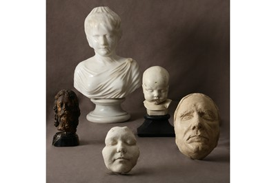 Lot 20-A SCOTTISH 19TH CENTURY DEATH MASK OF A WOMAN