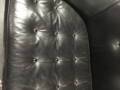 Lot 3-A pair of 1950s American leather sofas