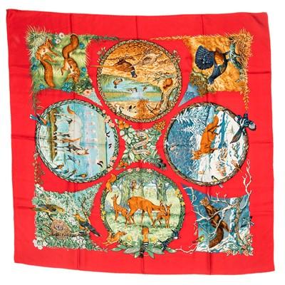 Lot 21-Hermes 'Les Quatre Saisons' Silk Scarf