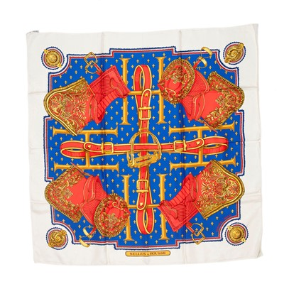 Lot 20-Hermes 'Selles A Housse' Silk Scarf