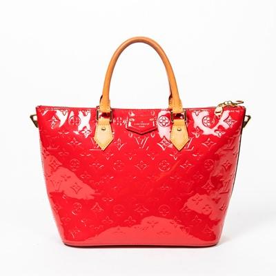 Lot 5-Louis Vuitton Red Monogram Vernis Montebello MM