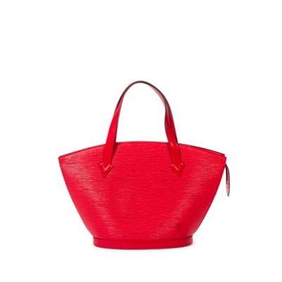 Lot 6-Louis Vuitton Red Epi Leather St Jacques PM