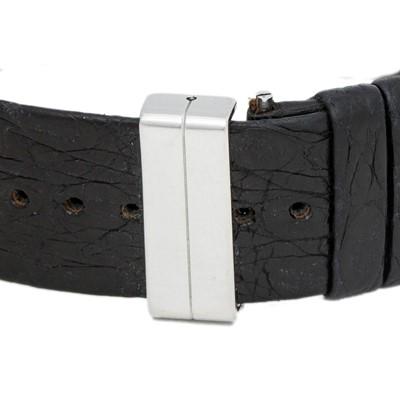 Lot 37-Chanel Black Crocodile Matelasse Watch