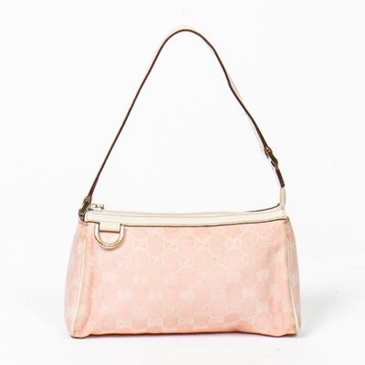 Lot 46-Gucci D Ring Pink Cosmetic Case Shoulder Bag