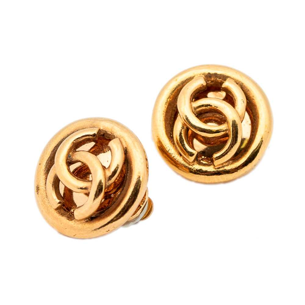 Lot 44-Chanel Logo Clip On Earrings