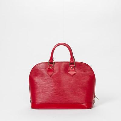 Lot 7-Louis Vuitton Red Epi Alma PM