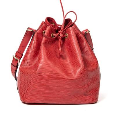 Lot 9-Louis Vuitton Red Epi Noe PM