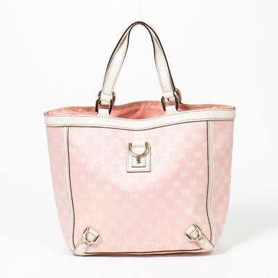 Lot 47-Gucci Pink Monogram Abbey Shopper PM