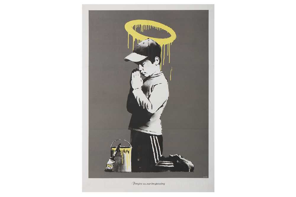 Lot 42-Banksy (British, b.1974), 'Forgive Us Our Trespassing'