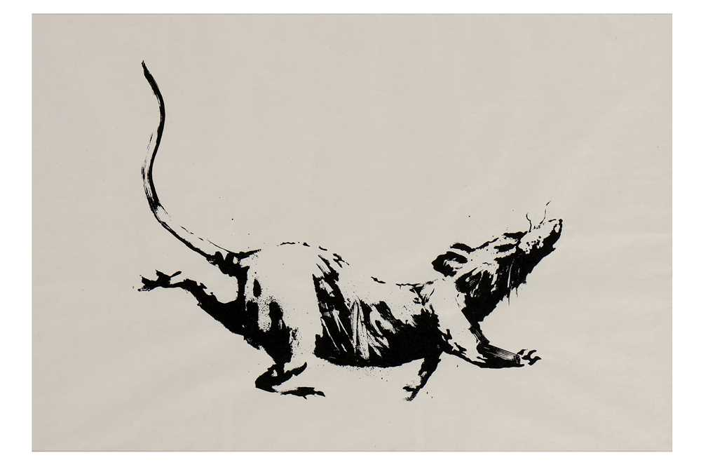 Lot 43-Banksy (British, b.1974), 'GDP Rat'