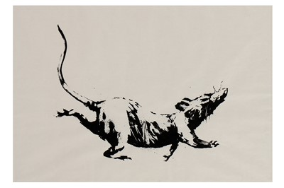 Lot 43-Banksy (British, b.1974), 'GDP Rat'