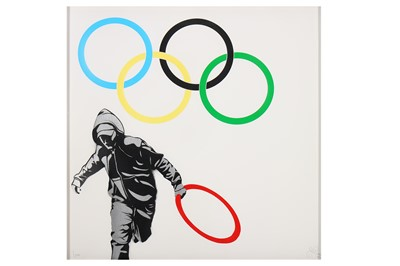Lot 50-Pure Evil (British b.1968), 'New Logo For The Hackney Looting Team'