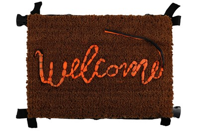 Lot 69-Banksy x Love Welcomes, 'Welcome Mat'