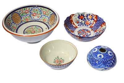 Lot 15-* FOUR PERSIAN POTTERY VESSELS OF ORIENTAL INSPIRATION