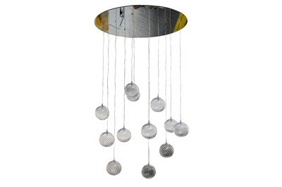 Lot 35-A modern Aurora twelve light ceiling fitting