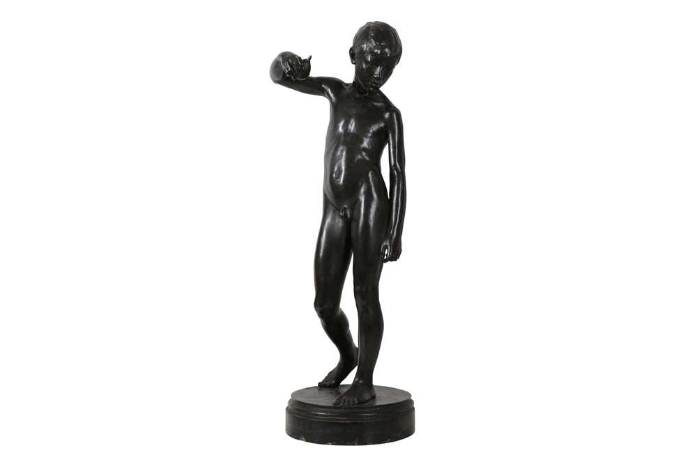 Lot 53 - AN IMPORTANT NEW SCULPTURE BRONZE FIGURE OF A BOY POSSIBLY BY SIR WILLIAM GOSCOMBE JOHN (BRITISH, 1860-1952)
