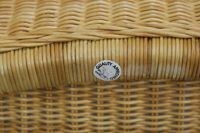 Lot 11-McGuire, a woven shelter chair