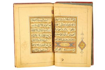 Lot 121 - A QAJAR  ILLUMINATED PRAYER BOOK
