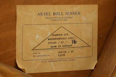 Lot 2-Aksel Boll Jensen - Denmark - A teak dining suite