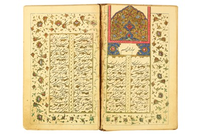 Lot 114 - AN INCOMPLETE ILLUMINATED BUSTAN BY SA'DI IN SHIKASTEH SCRIPT
