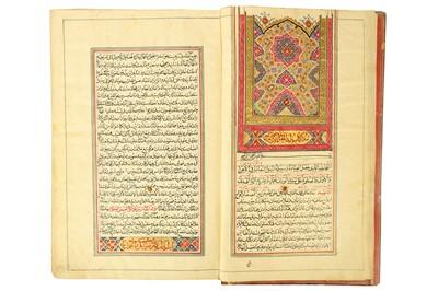 Lot 113 - A QAJAR ILLUMINATED MANUSCRIPT OF ZAD AL-MA'AD