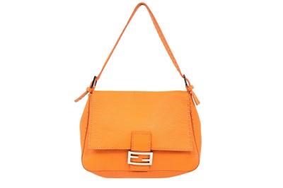 Lot 149 - Fendi Orange Selleria Mama Baguette Bag
