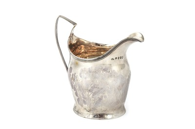 Lot 18-A George III sterling silver creamer
