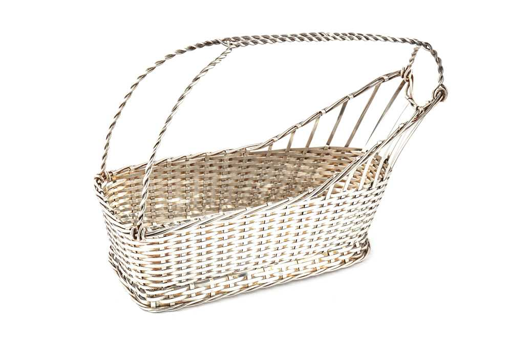 Lot 17-A 20th century white metal bottle carrier