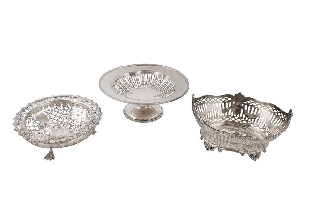 Lot 26-A Victorian sterling silver footed nut bowl