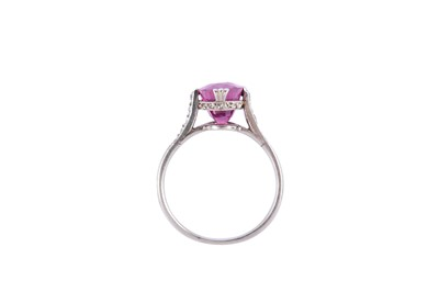 Lot 11-A ruby and diamond ring