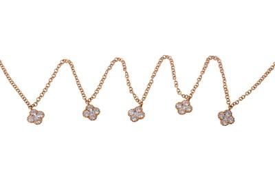 Lot 25-A diamond-set necklace