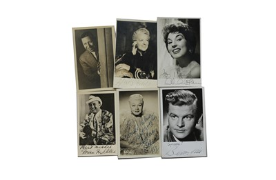 Lot 59-Photograph Collection.- Vintage Actors & Entertainers