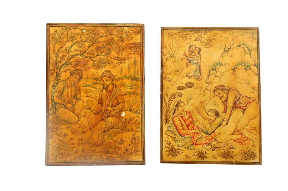 Lot 1022-λ Ivory Miniatures on Moral and Lust