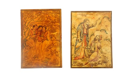 Lot 1022 - λ Ivory Miniatures on Moral and Lust