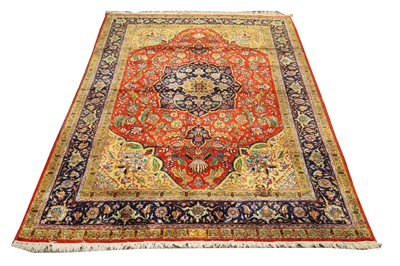 Lot 38-A VERY FINE SILK QUM RUG, CENTRAL PERSIA