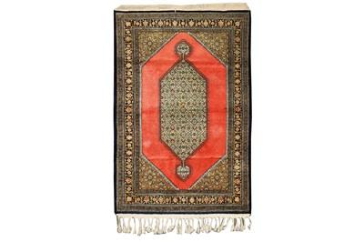 Lot 13-A VERY FINE SILK QUM RUG, CENTRAL PERSIA
