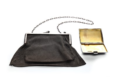 Lot 14-A early 20th century 925 silver mesh purse
