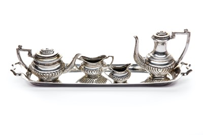 Lot 13-A miniature sterling silver tea set, Birmingham 1991