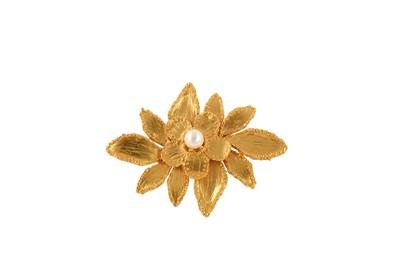 Lot 78-YSL Layered Flower Brooch