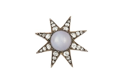 Lot 11A - A late 19th century star sapphire and diamond star brooch