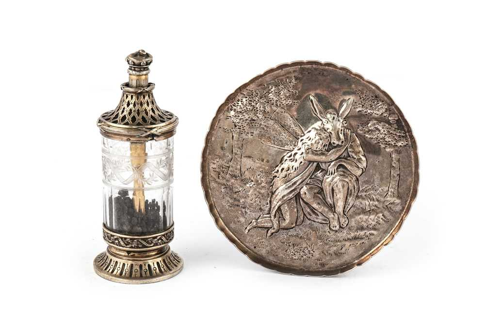 Lot 38-A 19th Century French 950 standard silver gilt pepper grinder