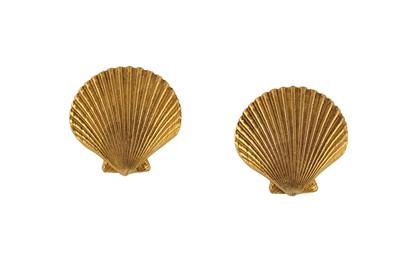Lot 82-YSL Shell Clip On Earrings