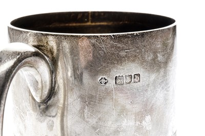 Lot 5-A late Victorian sterling silver tankard