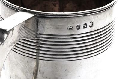 Lot 6-A George III sterling silver tankard