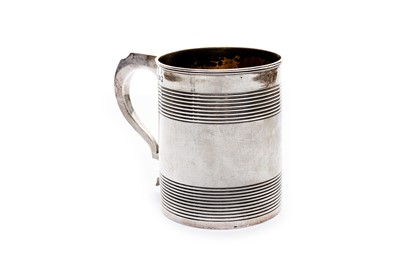 Lot 6-A George III sterling silver tankard