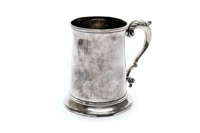 Lot 4-A George III sterling silver tankard