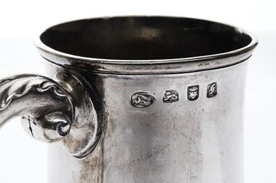 Lot 4-A George III sterling silver tankard