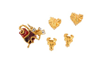 Lot 67-Christian Lacroix Pendant and Clip On Earrings